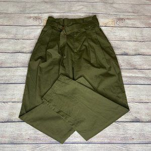 NWT F21 High Waist Belted Paperbag Ankle Pants